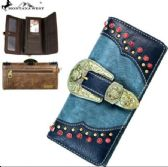 4 Units of Montana West Buckle Collection Wallet