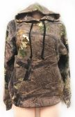 12 Units of Pull Over Hoody Camo Print with Fleece Lining Assorted - Womens Sweaters / Cardigan