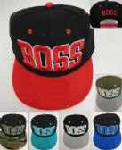 24 Units of Snapback Boss Block Letter Assorted - Baseball Caps & Snap Backs