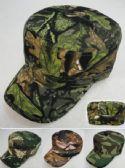 24 Units of Camo Cadet Hat Castro Caps - Baseball Caps & Snap Backs