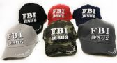 24 Units of Baseball hats FBI Firm Believe in Jesus Hats - Baseball Caps & Snap Backs