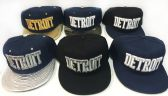 24 Units of Snap Back Flat Bill Block Letter Detroit Assorted Color