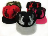 24 Units of Snap Back Flat Bill Middle Fingers Assorted Colors