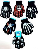 144 Units of Boy's Skull Style winter glove