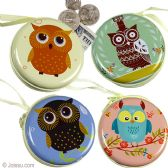96 Units of Owl Metal Coin Purses - Coin Holders & Banks