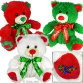 12 Units of Plush Merry Christmas Bears - Dolls