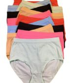36 Units of Femina Ladys Cotton Brief Assorted Color Size Medium