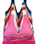 36 Units of Femina Ladys Seamless Sports Bra Assorted Color One Size