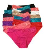 36 Units of Grace Ladys Cotton Bikini Assorted Color Size Small