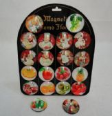 """40 Units of 2"""" Round Dome Magnets [Fruits & Kitchen] - Educational Toys"""