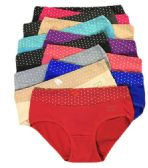 60 Units of Grace Ladys Striped Bikini Assorted Color Size Medium - Womens Panties & Underwear