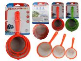 72 Units of 3PC Strainers With Handles