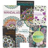 48 Units of Adult Coloring Book Mandalas 32pg 6 Asst In Pdq