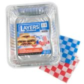 100 Units of Aluminum Roasters /baking Pans Layers 50 Ct Display W/lids 32 Roasters 28 Baking Pans - Tray