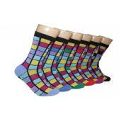 360 Units of Women's Stained Glass Print Crew Socks