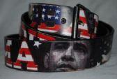 48 Units of wholesale man woman belts Obama