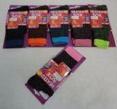 60 Units of 1pr Ladies Thermal Sock 9-11 [Assorted Colors] - Womens Crew Sock