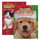 48 Units of Puppies & Kittens Christmas Coloring & Activity Book