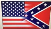 48 Units of .3'X5' Half and Half Confederate/American Flag