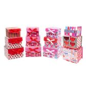 24 Units of Valentine Paper Gift Box - Valentine Gift Bag's
