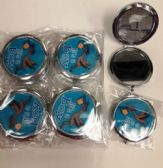 144 Units of Cosmetic Pocket Plastic Metal Mirror Its A Boy
