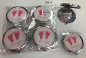 144 Units of Cosmetic Pocket Plastic Metal Mirror Its A Girl