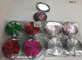 144 Units of Cosmetic Pocket Plastic Metal Mirror