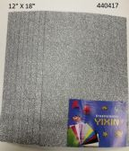 24 Units of Eva Foam With Glitter 12X18 10 Sheets In Silver
