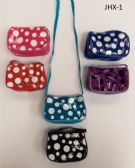 180 Units of GIRL COIN PURSES ASSORTED COLOR IN POLKA DOT