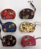 180 Units of GIRL COIN PURSES ASSORTED COLOR OWLS
