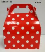 360 Units of CANDY BOX 6.5X8X4 IN RED POLKA DOT