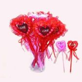 12 Units of HEART LACE PEN 12 PIECE - Valentine Cut Out's Decoration