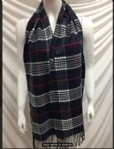 12 Units of Winter Plaid Navy Scarf