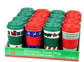 36 Units of Christmas Travel Mug - PDQ - Coffee Mugs