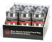9 Units of Stainless Steel Traveler Mug 28 oz. PDQ - Coffee Mugs