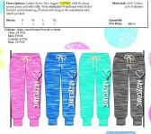 48 Units of Ladies Space Dye Jogger Capri Pants