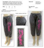 48 Units of Ladies Printed French Terry Capri Pants