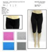72 Units of Ladies Solid Color Jersey Capri Pants