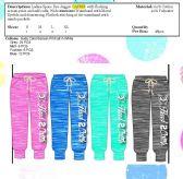 48 Units of Ladies Printed Space Dye Jogger Capri Pants
