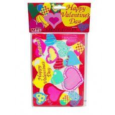 144 Units of happy valentine 8 pack invitations/envelopes