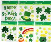 72 Units of St. Patrick's Window Gel Cling - St. Patricks