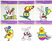 72 Units of Easter Window PVC Cling