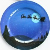"24 Units of Plate 13"" Santa, Sleigh with/Reindeer"