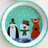 24 Units of Penguin, Snowman, & Deer Tray 11.75""