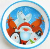 "24 Units of Santa & Friends Tray, 11.75"" Round"