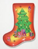 "24 Units of Plate, Stocking Shaped- Tree, 9-1/2"" - Christmas Stocking"