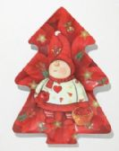 24 Units of Plate ,Tree Shaped - Red Elf, 12""
