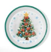 24 Units of Christmas Tray - Rnd, Tree, 12""