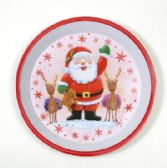 24 Units of Christmas Tray - Round, Santa, 12""