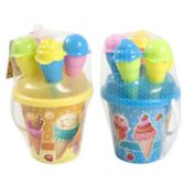 24 Units of 6 Piece Ice Cream Beach Play Pail Set - Beach Toys